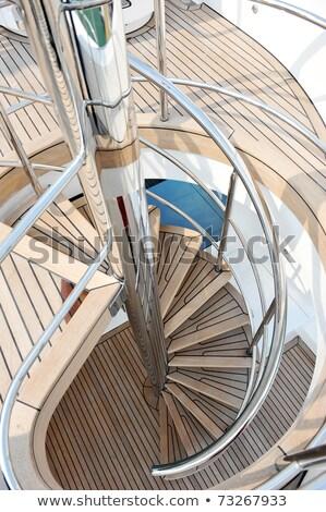 Merdiven lüks tekne beyaz adımlar Stok fotoğraf © Discovod