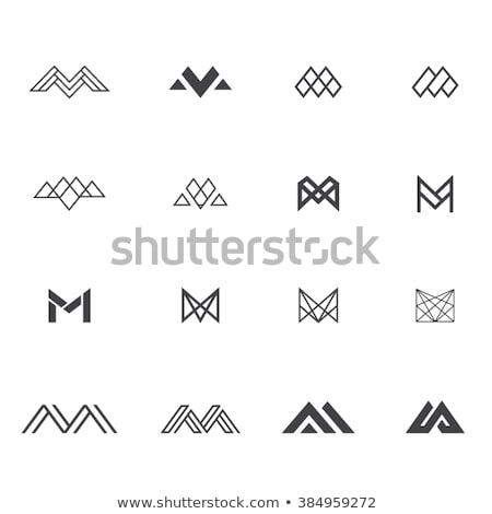 abstract letter M Stock photo © shawlinmohd