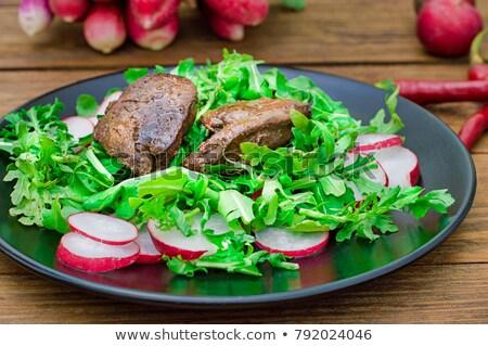 Mixed salad with liver Stock photo © doupix