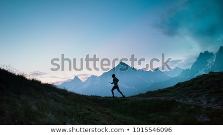 running to the peak Stock photo © val_th