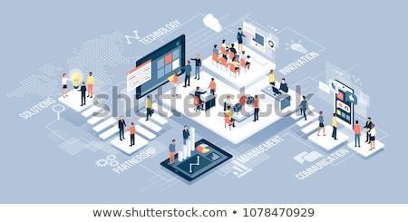 клиентов · управления · бизнеса · зеленый · стрелка · лозунг - Сток-фото © tashatuvango