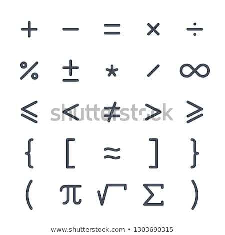 Simple mathematics symbols Stock photo © Elenarts
