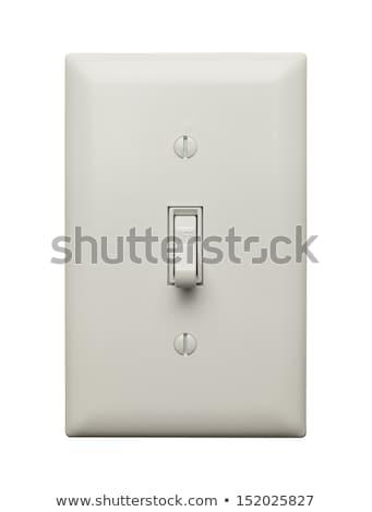 Interrupteur de lumière isolé blanche mur lumière fond Photo stock © pxhidalgo