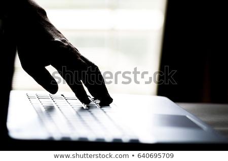 Fraude holofote vermelho escuro computador código Foto stock © 3mc