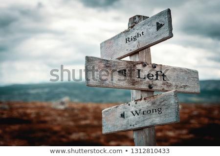 errado · maneira · assinar · vermelho · placa · sinalizadora · branco - foto stock © burakowski