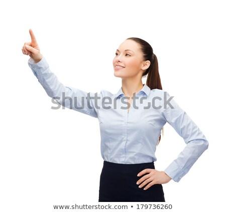 女性 作業 虚数 バーチャル 画面 ビジネス ストックフォト © dolgachov