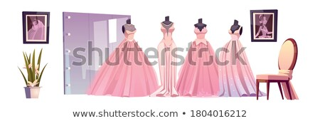 Pink gown on mannequin in a bridal shop Stock photo © gsermek