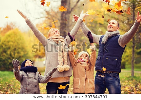 happy family in autumn park stock photo © yaruta