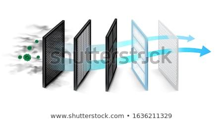 levegő · szűrő · nagy · barna · ház · textúra - stock fotó © lightsource