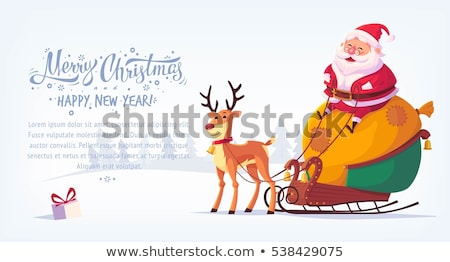 Funny Color Christmas background with Santa Claus resting in cha Stock photo © Elmiko