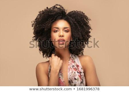 Verão menina retrato beautiful girl flores madeira Foto stock © EwaStudio