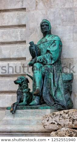 Matthias Fountain in the Buda Castle Royal Palace Stock photo © pixachi