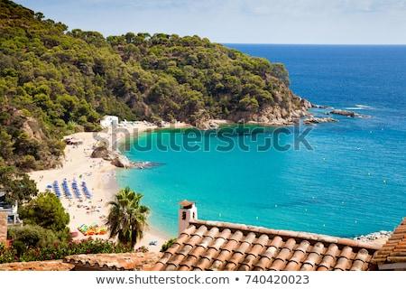 praia · ver · areia · pier · histórico · torre - foto stock © nejron