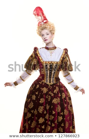királynő · királyi · ruha · izolált · fehér · erő - stock fotó © nejron