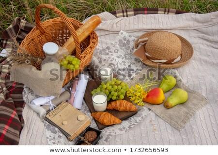 цветы плетеный корзины Cookies книга книгах Сток-фото © manera