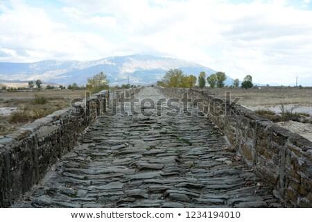 старые · тротуар · дороги · строительство · рок · черный - Сток-фото © pancaketom