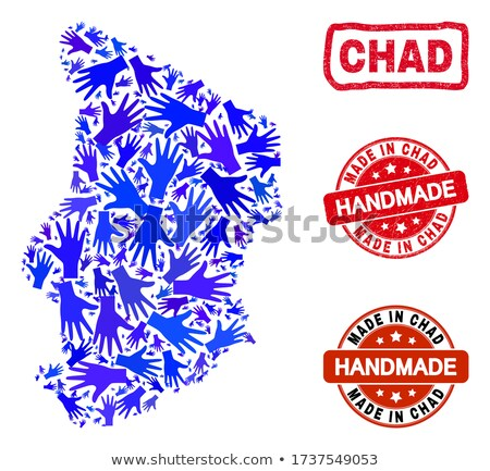 made in chad on red rubber stamp stock photo © tashatuvango