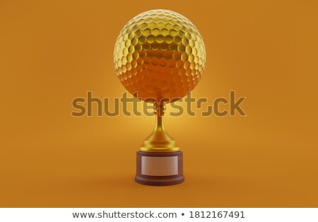 Golden golf ball Stock photo © Viva