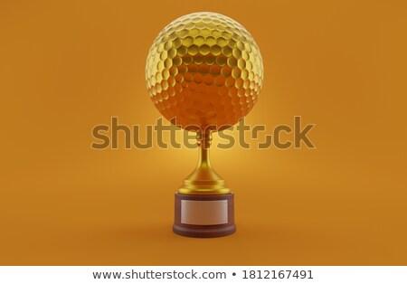 golden golf ball stock photo © viva