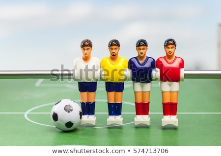 red table soccer figures Stock photo © flipfine