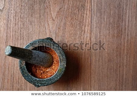 Wooden mortar and pestle  Stock photo © marimorena