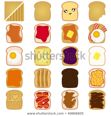 White bread toast icon with chocolate Stock photo © aliaksandra