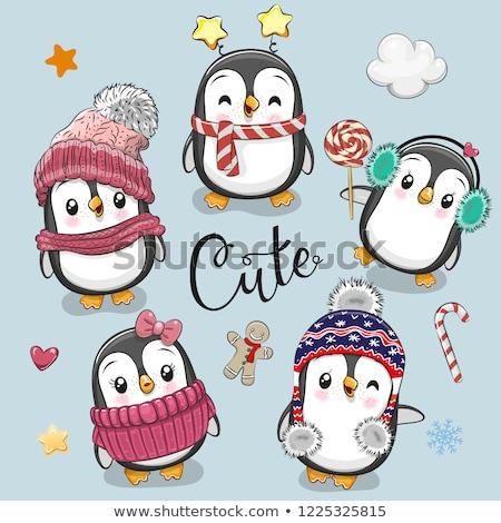 winter girl background vector illustration stock photo © carodi