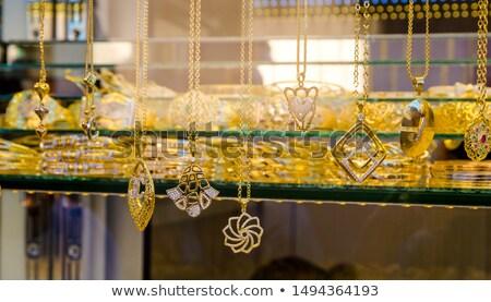Wschodniej biżuteria rynku pierścienie tradycyjny ciepły Zdjęcia stock © dariazu