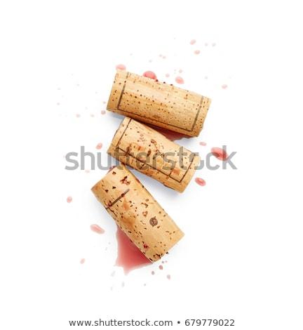 中古 · ワイン · 孤立した · 白 · 背景 · レストラン - ストックフォト © manera