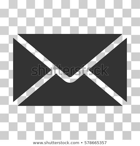 ベクトル 封筒 アイコン グレー 色 eps ストックフォト © aliaksandra