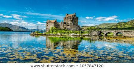 замок Шотландии известный облака моста путешествия Сток-фото © elxeneize