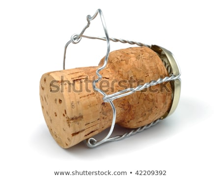champagne cork over white stock photo © lucielang