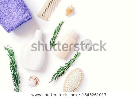 Stock fotó: Törölközők · fürdőkád · izolált · egészség · háttér · fürdő