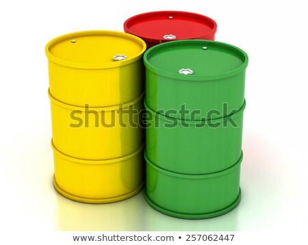 赤 鋼 化学 ドラム 黄色 バレル ストックフォト © Lupen