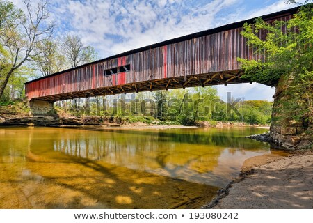 Sugar Creek Covered Bridge Stock photo © benkrut