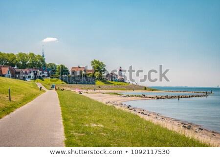 boot · nederlands · dorp · water · bruggen · architectuur - stockfoto © ivonnewierink