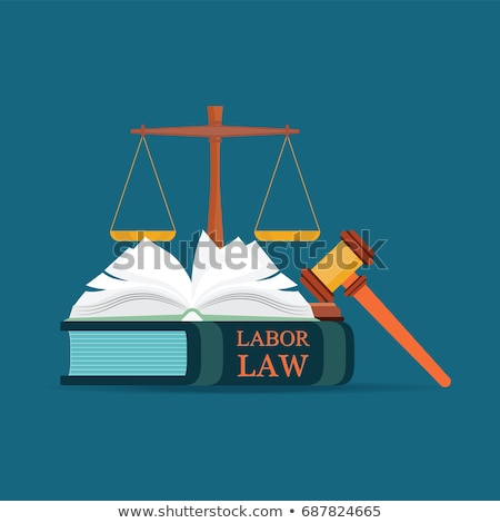 A law book with a gavel - Labour law Stock photo © Zerbor