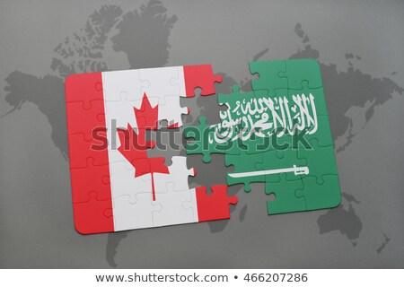 Canadá · Arábia · Saudita · bandeiras · quebra-cabeça · vetor · imagem - foto stock © Istanbul2009