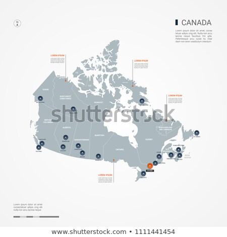 Orange bouton image cartes Canada forme Photo stock © mayboro