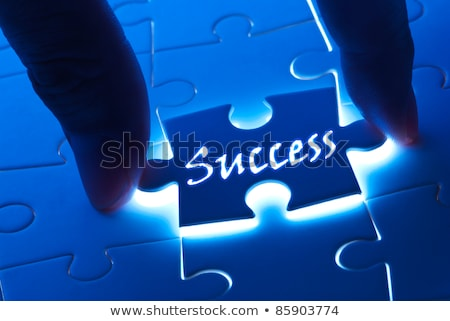 Stock photo: Work - White Word on Blue Puzzles.