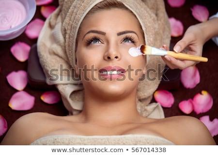 Stock fotó: Vonzó · nő · kezelés · fürdő · központ · közelkép · vonzó