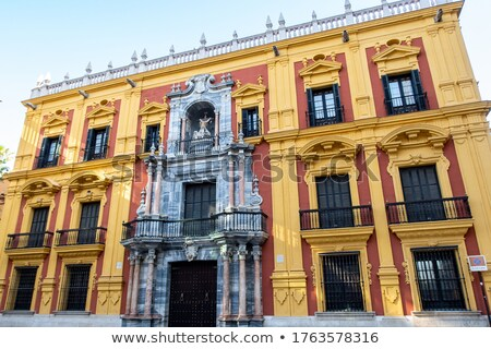 The baroque facade of Bishops palace in Malaga Stock photo © CaptureLight