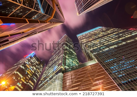 Singapore · wolkenkrabber · nacht · business · gebouw · skyline - stockfoto © elnur