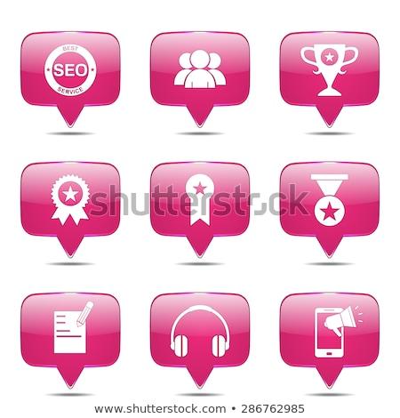 seo · Internetu · podpisania · placu · wektora · różowy - zdjęcia stock © rizwanali3d