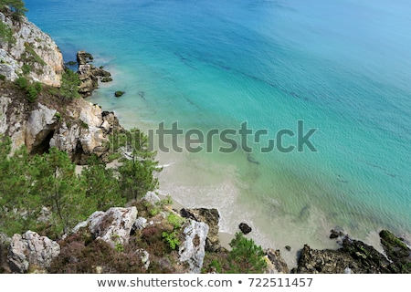 Ile Vierge and the beach, Crozon Peninsula Stock photo © tilo