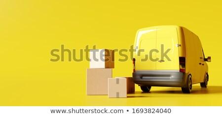 Jaune van espace texte vitesse Photo stock © remik44992