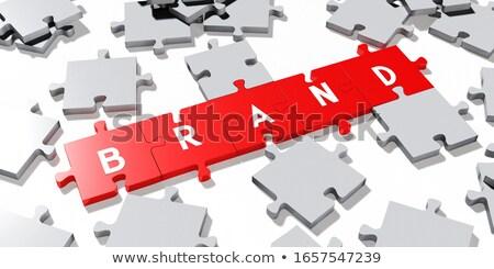 Brand puzzle Stock photo © fuzzbones0