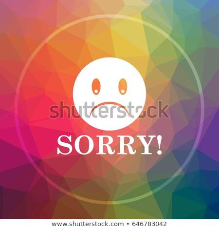 Sorry button Stock photo © fuzzbones0