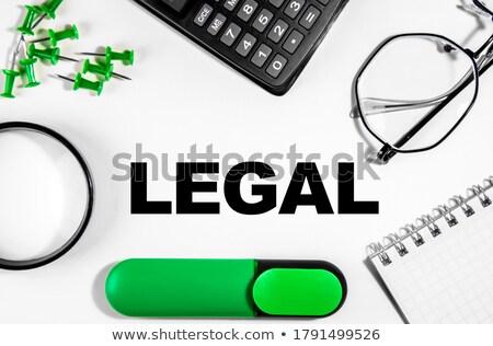 Stock fotó: Jogi · diagram · zöld · tő · üzlet · törvény