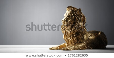 Golden lion statues stock photo © scenery1